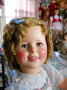 Ideal doll company 36 inch Shirley Temple doll.  Shirley is magnificent and has amber colored eyes, made in the late 50's.
