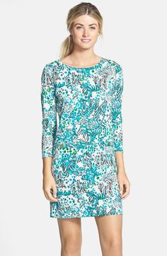 Lilly+Pulitzer®+'Corine'+Print+Pima+Cotton+Shift+Dress+available+at+#Nordstrom