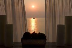 A magical sunset from Sea You Bar & Restaurant at Sani Marina, Halkidiki