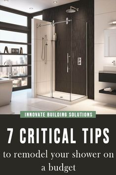 In this article we will show you the 7 critical tips you can you to remodel your shower on budget without breaking the bank. Check them out here Average Kitchen Remodel Cost, Kitchen On A Budget, San Diego, Shower Wall Panels, Shower Walls, Innovation, Glass Shower Enclosures, Luxury Shower, Bathroom Spa