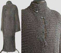 c long mail shirt Middle Ages History, Late Middle Ages, Medieval Weapons, Medieval Knight, Medieval Fashion, Medieval Clothing, Cleveland Museum Of Art, Knight Armor, Historical Artifacts