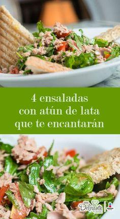 ensaladas con atun de lata | CocinaDelirante