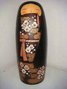 Free Shipping Sosaku Kokeshi Doll by Nozawa Kaoru 26 5cm 10 1 4 Inches | eBay
