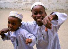 Sonrisas inocentes en Zanzibar