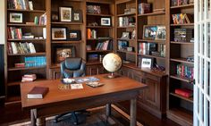 Pin It Custom Built Home Office Wood Office Library Shelves And