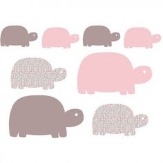 Stickers enfant Famille Tortues - Art for Kids