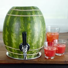 so easy. watermelons are natures keg.