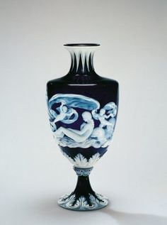 Vase by Hodgetts, Richardson and Son, 1877 Ceramic Decor, Ceramic Art, Cut Glass, Glass Art, Depression Art, The Birth Of Venus, Corning Museum Of Glass, Collections Of Objects, Fenton Glass