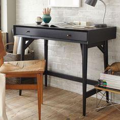 Mid-Century Mini Desk - Black | west elm UK
