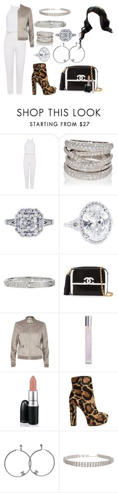 """""""I'm so into you, I can barely breathe"""" by moonlightbabby ❤ liked on Polyvore featuring Miss Selfridge, Sidney Garber, Cartier, Chanel, River Island, ARI, David Jones, Schutz and Humble Chic"""