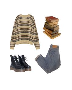 Hippie Outfits, Teen Fashion Outfits, Retro Outfits, Grunge Outfits, Cute Fashion, Vintage Outfits, Swaggy Outfits, Cute Casual Outfits, Aesthetic Fashion
