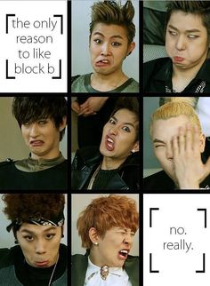 I love it when they act derpy like this!!  Block B- Come for the music stay for the derps,