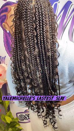 Braided Hairstyles For Black Women, Box Braids Hairstyles For Black Women, Braids Hairstyles Pictures, Black Girl Braids, Cool Braid Hairstyles, Braids For Black Hair, African Braids Hairstyles, Baddie Hairstyles, Protective Hairstyles