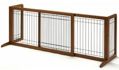 New at Doowaggle  - Large Wooden Free Standing Dog Gate , $179.95 and qualifies for FREE Ground Shipping in Cont. U.S.!! (http://www.doowaggle.com/large-wooden-free-standing-dog-gate/) #woodenindoordoggate