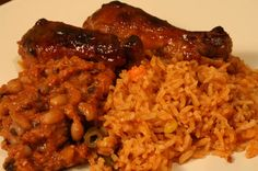 African foods: jollof chicken and beans stew. - La Toyza - African foods: jollof chicken and beans stew. African foods: jollof chicken and beans stew. Nigeria Food, Ghana Food, West African Food, Jollof Rice, Cooking Recipes, Healthy Recipes, Easy Recipes, Caribbean Recipes, Gastronomia