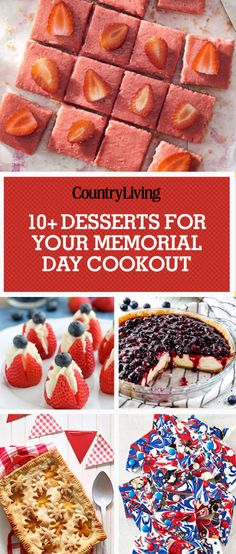Honor your loved ones who have served the country with these Memorial Day desserts you can take to cookouts.