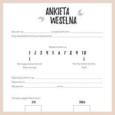 Ankieta weselna dla gości.  Kliknij i pobierz ankietę w dobrej jakości i za darmo! Stwórz księgę gości samemu!  #zróbtosam #diy #ślub #wesele #rustykalnie #księgagości #rustykalny #inspiracje #dodruku #popolsku