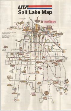 Historical Map: Salt Lake UTA Bus Map, 1979 Here's a gem of an old map, sent my way by long-time follower, Mike Christensen. It's an overview map of the UTA bus system in Salt Lake City from 1979,...