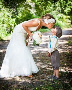 Beautiful Bride kissing her son!