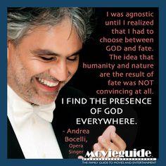 Amen, Andrea Bocelli - opera singer!