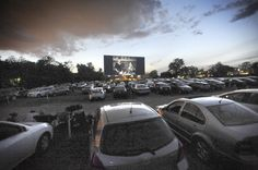 A film plays before the feature at Bengies Drive-In Theatre in Middle River.