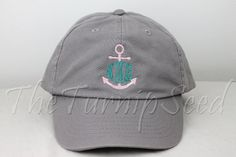 Ladies' Monogram Baseball Cap - Anchor Monogram - Custom Color Hat and Embroidery. on Etsy, $12.00