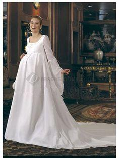 Vestido de boda para novia embarazada. Pregnant brides www.miboda.tips/