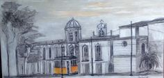 Lisbon old city  Acrylic over canvas  Private collection , Tilburg Netherlands