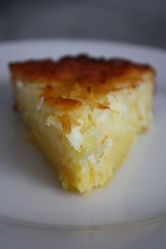 Impossible Coconut Pie - Blue-Eyed Bakers