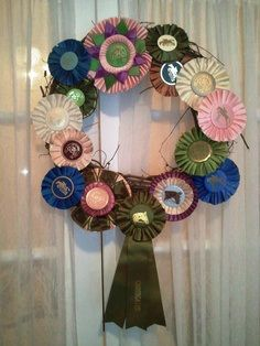 Great ideas for what to do with all those old horse show ribbons.
