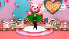 Valentine's Day Decoration Virtual Studio Set Virtual Studio, Cartoon Styles, Birthday Candles, Valentines, Entertainment, Decoration, Pink, Gifts, Valentine's Day Diy