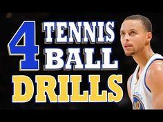 Improve Your Ball Handling | 4 Stationary Tennis Ball Drills | Pro Training Basketball - YouTube