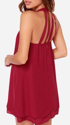 Havana Club Wine Red Dress