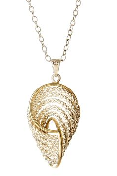Two-Tone Twisted Circle Necklace on HauteLook