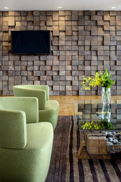 Joel Lounge Chair welcomes guests to the Stacy and Witbeck construction and engineering firm in Alameda, California, creating a beautiful office lobby.