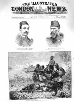 Antique Print 1883 Soudan War Native Egyptian Troops Pasha Coetlogon