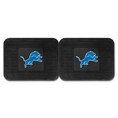 Detroit Lions Backseat Utility Mats 2 Pack 14x17 - Boast your team colors with backseat utility mats by FANMATS. High quality and durable rubber construction with your favorite team's logo permanently molded in the center. Non-skid backing ensures a rugged and safe product. Due to its versatile design utility mats can be used as automotive rear floor mats for cars, trucks, and SUVs, door mats, or workbench mats. Now comes in a 2 Pack!FANMATS Series: 2UTILITYTeam Series: NFL - Detroit…