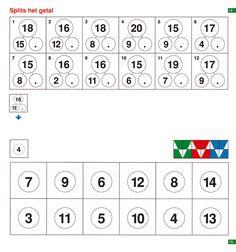 loco, splits het getal Montessori Math, Preschool Activities, Mini, Learning Tools, Creative Kids, Kids Education, Worksheets, Homeschool, Teaching