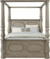 Nantucket Breeze Bisque 5 Pc King Panel Bedroom Rooms To Go In 2020 Queen Canopy Bed Bed King Size Headboard