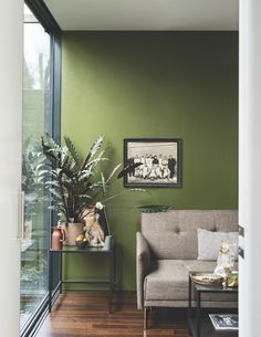British paint manufacturer Farrow & Ball has expanded its extensive color card with nine new shades. Carefully chosen to balance Farrow & Ball'. Room Colors, Living Room Green, Interior Design, House Interior, Popular Living Room, Paint Colors For Living Room, Home, Interior, Room Paint