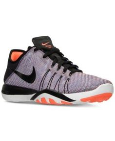 Nike Women\u0027s Free Tr 6 Print Training Sneakers from Finish Line - Black 6