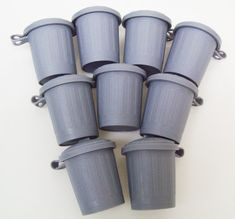 50 Trash Truck Dump Truck Trash Can Garbage Can Recycle Birthday Party Favors - 50 pcs on Etsy, $6.50