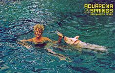 I found some great old postcards from Aquarena Springs in San Marcos... I miss the mermaid show and the diving pig!  And the glass bottomed boat you could ride...
