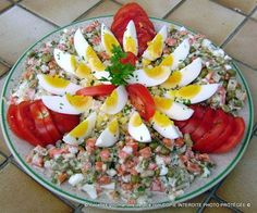 Snack Recipes, Dinner Recipes, Cooking Recipes, Healthy Recipes, Salad Design, Tunisian Food, Breakfast Platter, Mayonnaise, Meals For Two