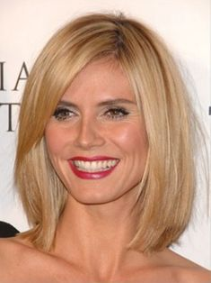Maybe something like this? Long angled bob hair style.  Straight, a little layered and jagged cut ends, swept to the side to compliment the face - Bob Hairstyles 2012 - Bob Hair Styles