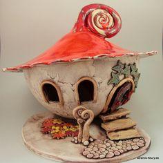 Gartendekoration - Keramik Windlicht XL Gartenkeramik - ein Designerstück von kreativwerkstatt-fleury bei DaWanda
