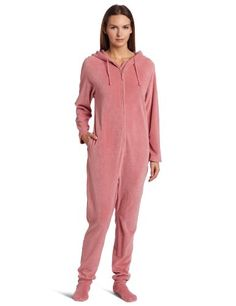 Casual Moments Women`s One Piece Footed Pajama hehehe