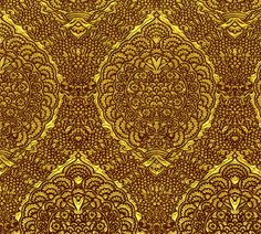 Queen Margareta's Golden Gown Brocade Imitation fabric by bonnie_phantasm on Spoonflower - custom fabric