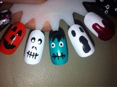 Halloween Nails by @treacletot - Nails Magazine