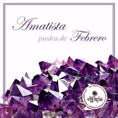 La amatista, nuestra piedra del mes, es una piedra preciosa que toma su tonalidad violeta por su contenido de hierro. Y su gama de colores varía de púrpura, violeta pálido a rojo-violeta. #effigia #piedrapreciosa